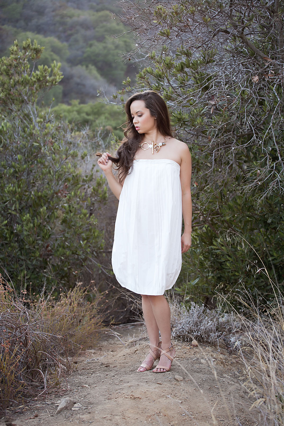 los angeles fashion, fashion blog, style blog, la style, la model, jil sander dress, michael kors heels, kelly wearstler necklace, mandeville canyon