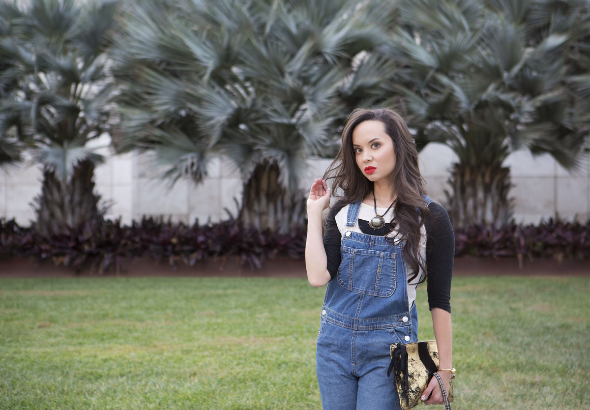 blushington, overalls for women, camille newbern, the la survival guide, la survival guide, ootd, overalls, women's overalls, overalls.freeforums.org, women's baseball tee, free people shirt, topshop overalls, sexy overalls, red lipstick, mac red lipstick, mac lady danger, drybar, drybar blowout, long hair blowout, nail art, enamel diction, enamel diction nail art, kelly wearstler necklace, kelly wearstler cuff, kelly wearstler jewelry, steve madden booties, black booties, black suede booties, isabel marant booties, clare vivier clutch, black gold clutch, papillon, modeling los angeles, eurasian model, fashion los angeles, los angeles blogs, shopping la, shopping los angeles, lacma, lacma photoshoot
