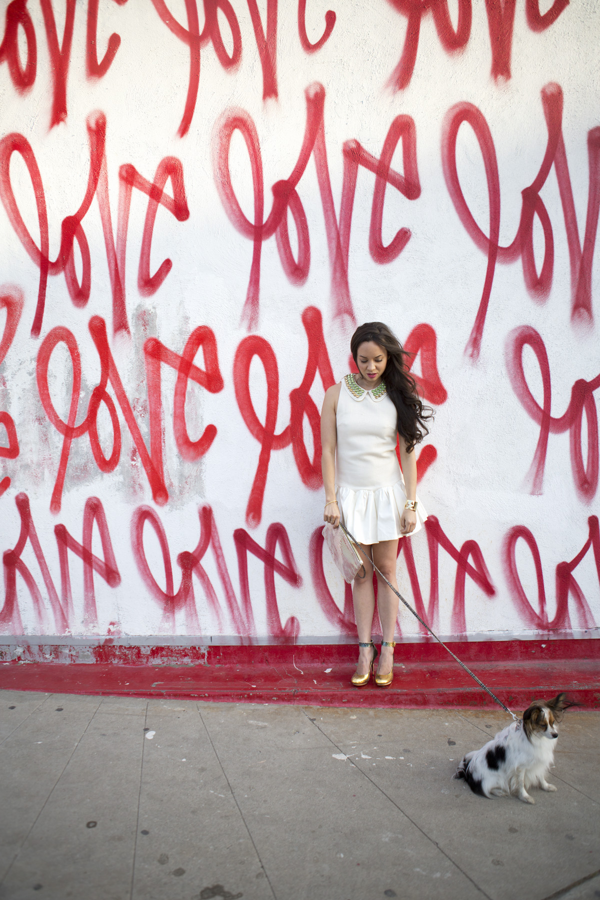 new years eve dress, love wall, camille newbern, ootd, ootn, the la survival guide, la survival guide, model los angeles, modeling los angeles, shopping la, shopping los angeles, drybar, drybar blowout, long hair blowout, blushington, enamel diction, enamel diction nail art, eurasian model, three floor, three floor dress, python heels, lanvin heels, clare vivier, clare vivier clutch, silver clutch, metallic heels, love wall culver city