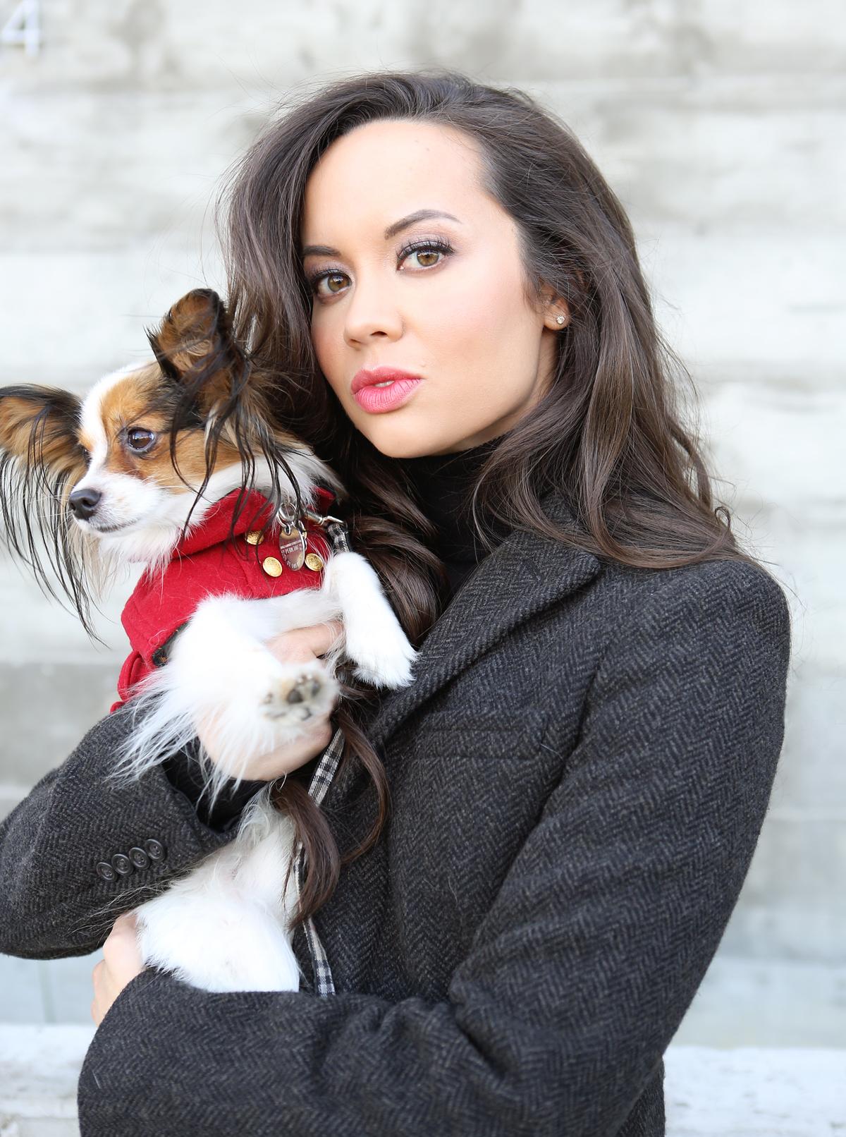 matching dog and owner coats, womens dog coats, ralph lauren red dog coat,